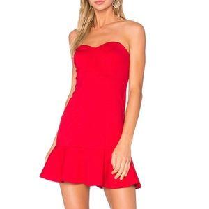 Red Strapless Amanda Uprichard Dress Small